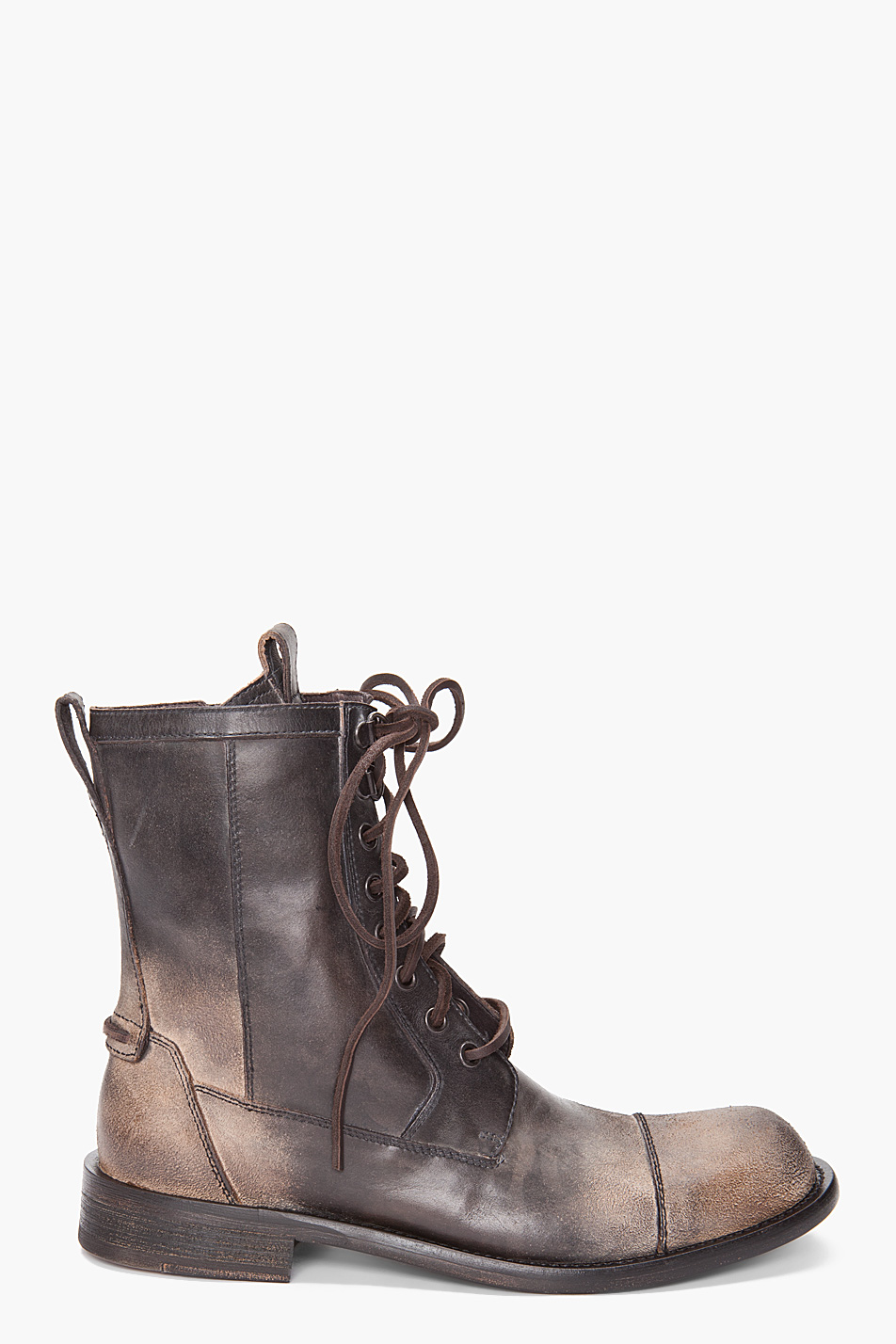 varvatos combat boots in brown for lyst
