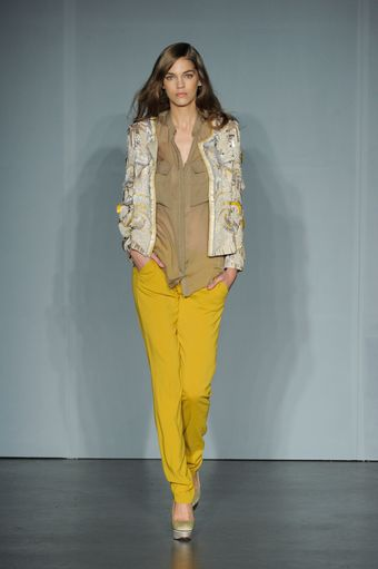 Matthew Williamson Spring 2012 Mustard Pants - Lyst