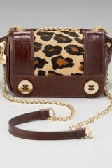 Milly Leopard-printed Mini Sophia Crossbody Bag - Lyst