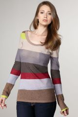 Splendid Striped Tee - Lyst