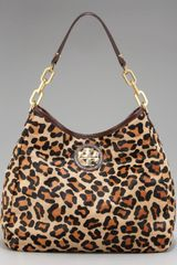 Tory Burch Calf Hair City Hobo - Lyst