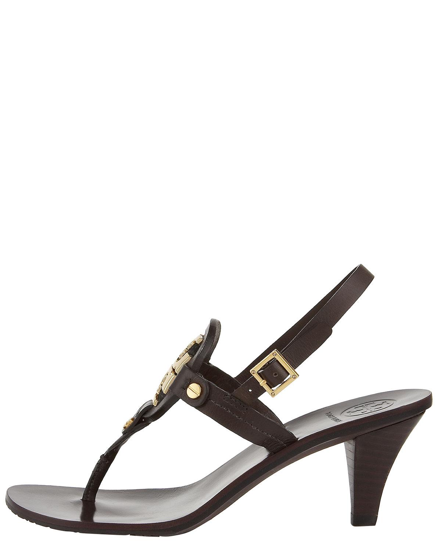 ea4f8e9c09b Lyst - Tory Burch Holly Mid-heel Thong Sandal in Black