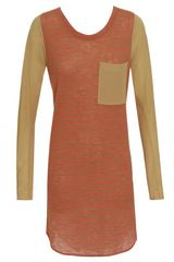 3.1 Phillip Lim Wool T-shirt Dress with Silk Sleeves - Lyst