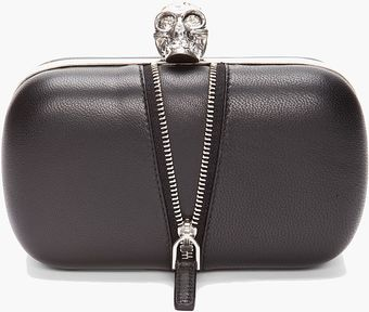 Alexander McQueen Zip Detail Box Clutch - Lyst