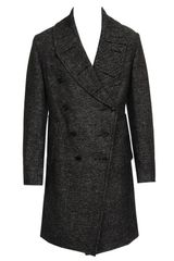 Ann Demeulemeester Linen-fleece Wool Coat