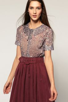 ASOS Collection Asos Floral Pleated Blouse - Lyst