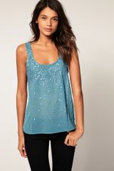 ASOS Collection Asos Spray Embellished Cross Back Cami - Lyst
