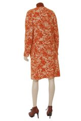 Bottega Veneta Textured Mohairblend Coat in Orange - Lyst