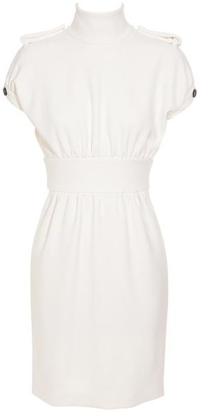 Burberry Prorsum Optic White Neoprene Dress - Lyst