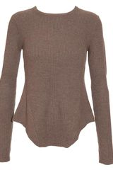 Carven Wool-cashmere Ribbed Sweater - Lyst