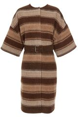 Chloé Striped Virgin Wool and Mohair-blend Coat - Lyst