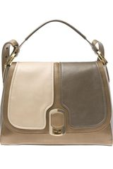 Fendi New Silvana Large Contrasting Leather Bag - Lyst