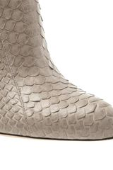 Gianvito Rossi Python Shoe Boots in Gray (grey) - Lyst
