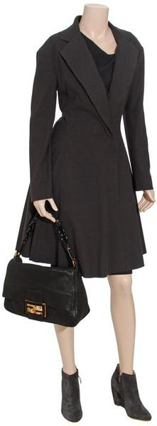 Lanvin Full Skirted Wool Coat - Lyst