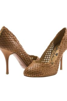 Lanvin Laser Cut Leather Pumps - Lyst