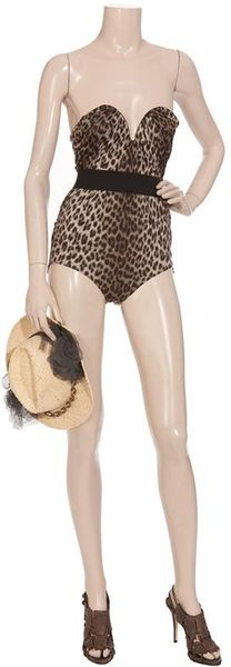 Lanvin Leopardprint Swimsuit in Animal (leopard) - Lyst