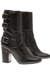 Laurence Dacade Merli Leather Biker Boots - Lyst