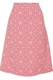 Marni Virgin Wool Skirt with Geometric-print - Lyst