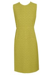 Marni Star-printed Virgin Crepe Wool Pencil Dress