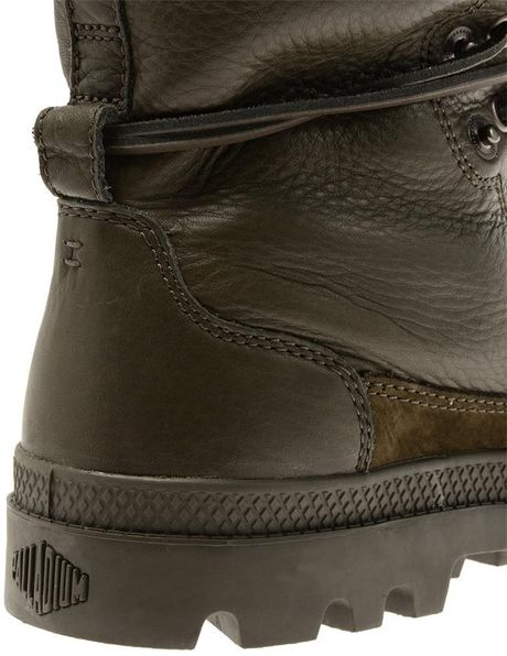 Neil Barrett Shearling Lined Leather Combat Boots In Green