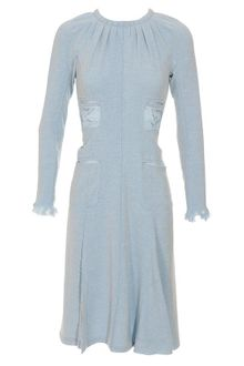 Nina Ricci Crepe Wool-blend Dress - Lyst