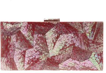 Serpui Marie Geometric Mother Of Pearl Clutch - Lyst