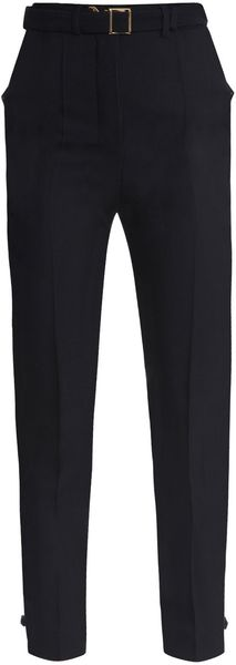 Yves Saint Laurent Crepe High-waist Trousers - Lyst