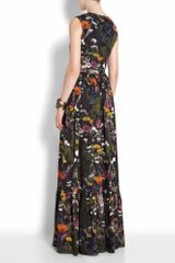 Mulberry Long Tillie Wrap Dress in Floral (gunmetal) - Lyst