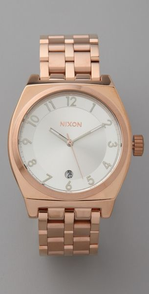 Nixon Monopoly Watch in Gold (rose)