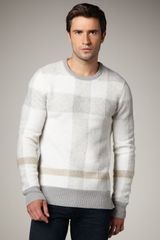 Burberry Brit Trench Check Crew Sweater - Lyst