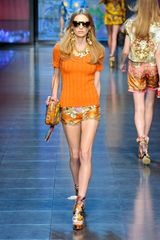 D&g Spring 2012 Printed Shoulder Bag in Orange - Lyst