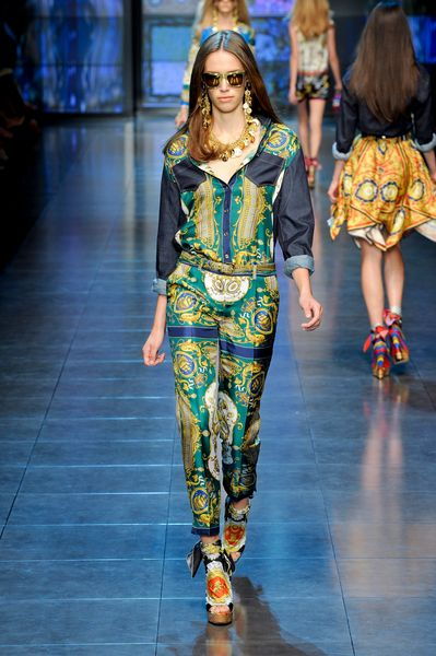 D&g Spring 2012 Printed Trouser in Blue - Lyst