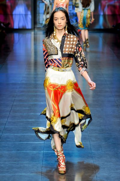 D&g Spring 2012 Scarf Wrapped Wedges in Red - Lyst