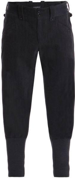 Dolce & Gabbana Herringbone Wool Jodhpur Trousers in Gray for Men (charcoal) - Lyst