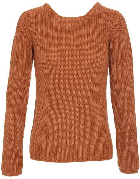 Etro Wool, Mohair and Cashmere Ribbed Jumper in Brown (coral) - Lyst
