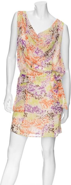 Exclusive For Intermix Exclusive Sleeveless Silk Printed Dress - Lyst