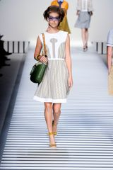 Fendi Spring 2012 Sleeveless Printed Dress - Lyst
