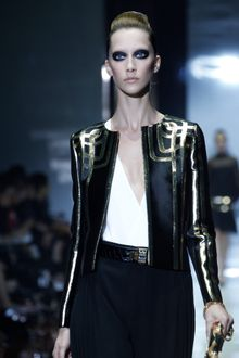 Gucci Spring 2012 Black Jacket with Gold Detailing - Lyst