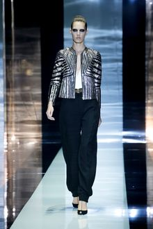 Gucci Spring 2012 Geometric Black and Gold Jacket - Lyst