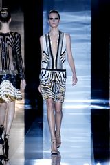 Gucci Spring 2012 Metallic Multicolor Art Deco Print Knee Lenght Cocktail Dress  - Lyst