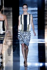Gucci Spring 2012 Metallic multicolor Art Deco Print Knee Lenght Cocktail Dress With Fringed Skirt - Lyst