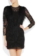 Isabel Marant Nelcie Embellished Lace Mini Dress in Black - Lyst