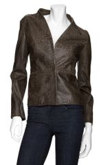 Maison Martin Margiela Flat Front Leather Jacket - Lyst