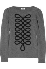 Moschino Cheap & Chic Appliquéd Knitted Sweater - Lyst