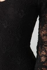 Nightcap Iris Lace Bodysuit in Black - Lyst