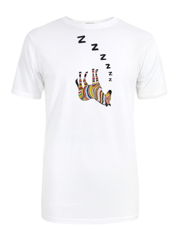 f1ae5e29968a9 Paul Smith 284a- Sleeping Zebra White T-shirt in White for Men - Lyst