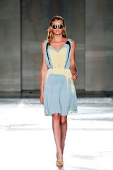 Prada Spring 2012 Gathered Waist Knife Pleated Cocktail Dress