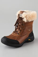 Ugg Adirondack Lace Up Boot Otter Leather - Lyst