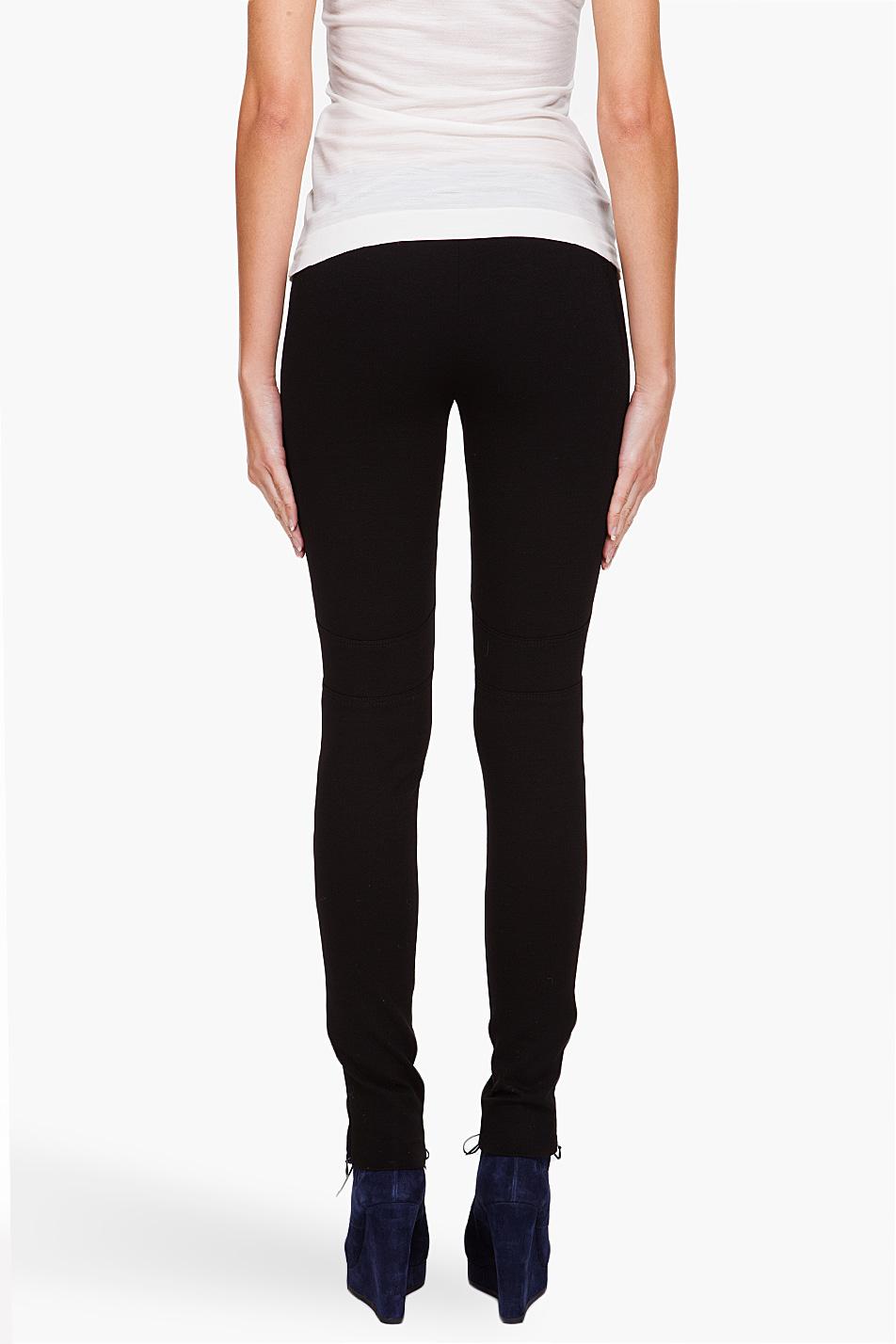 7a04995013985 Moncler Leggings in Black - Lyst