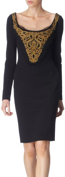 Pucci Embroidered Bodice Dress - Lyst